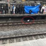 中央線の中野駅で人身事故