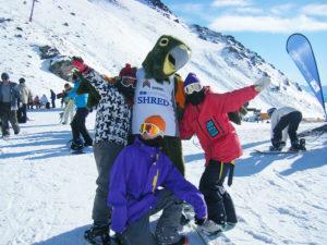 ニュージーランドでスノーボード