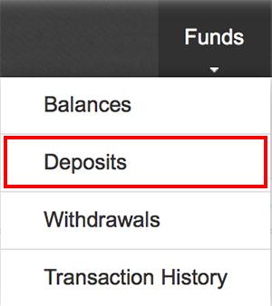 Binance(バイナンス)Deposits