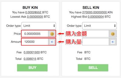 仮想通貨KIN(キン)を購入
