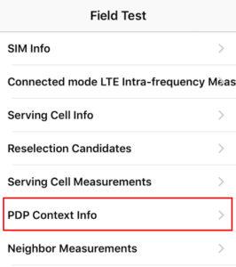 iPhoneで携帯キャリアIPアドレス確認手順2