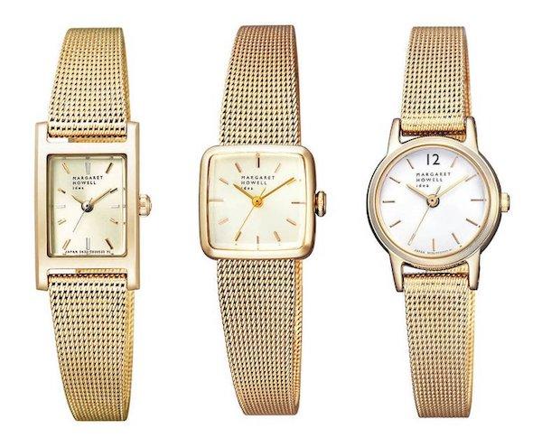 丸や四角の形をした腕時計