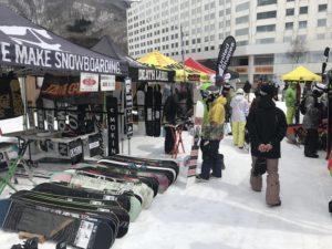 New Model ドリームゲート試乗祭 in 苗場 のスノーボードブース
