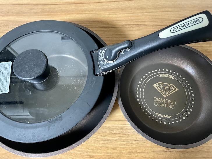 アイリスオーヤマのフライパンと鍋セット